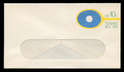 U.S. Scott # U 569 1974 10c Tennis Centenary - Mint Envelope, UPSS Size 12-WINDOW