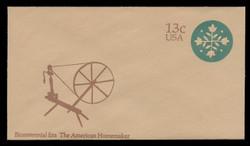 U.S. Scott # U 572 1976 13c American Homemaker - Quilt - Mint Envelope, UPSS Size 12