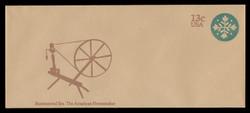 U.S. Scott # U 572 1976 13c American Homemaker - Quilt - Mint Envelope, UPSS Size 23