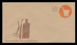 U.S. Scott # U 574 1976 13c American Doctor - Mortar - Mint Envelope, UPSS Size 12