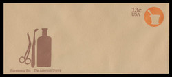 U.S. Scott # U 574 1976 13c American Doctor - Mortar - Mint Envelope, UPSS Size 23