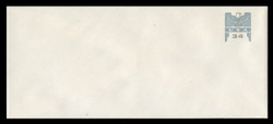 U.S. Scott # U 646G 2001 34c Federal Eagle - Grey and Grey - Mint Envelope, UPSS Size 21