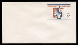 U.S. Scott # U 648 2001 34c Community Colleges - Mint Envelope, UPSS Size 12