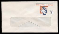 U.S. Scott # U 648 2001 34c Community Colleges - Mint Envelope, UPSS Size 12-WINDOW