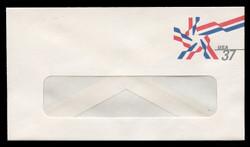 U.S. Scott # U 649 2002 37c Ribbon Star - Mint Envelope, UPSS Size 12-WINDOW