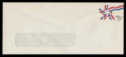 U.S. Scott # U 649 2002 37c Ribbon Star - Mint Envelope, UPSS Size 23-WINDOW