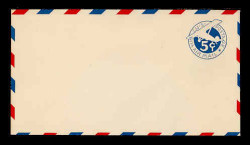 U.S. Scott # UC  2 1929 5c Plane, Blue Background, Die 2, Border Type b/2 - Mint Envelope, UPSS Size 10 (See Warranty)