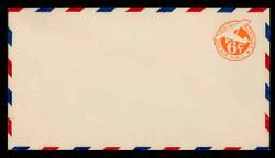 U.S. Scott # UC  3 1934 6c Plane, Orange Background, Die 2a, with Border - Mint Envelope, UPSS Size 13