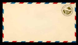 U.S. Scott # UC  7 1932 8c Plane, Olive green Background, Die 2, with Border - Mint Envelope, UPSS Size 13