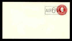 U.S. Scott # UC  8a 1945 6c on 2c (U429f) Washington, Die 7 - Mint Envelope, UPSS Size 13