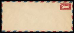 U.S. Scott # UC 15 1946 5c DC-4 Skymaster, Die 2 - Mint Envelope, UPSS Size 23