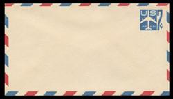 U.S. Scott # UC 33 1958 7c Jet Airliner, Blue - Mint Envelope, UPSS Size 12