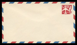 U.S. Scott # UC 34 1960 7c Jet Airliner, Red - Mint Envelope, UPSS Size 12