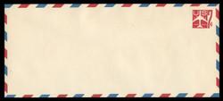 U.S. Scott # UC 34 1960 7c Jet Airliner, Red - Mint Envelope, UPSS Size 23