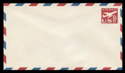 U.S. Scott # UC 36 1960 8c Jet Airliner, Red - Mint Envelope, UPSS Size 12