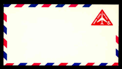 U.S. Scott # UC 37 1965 8c Jet Airliner, Red - Mint Envelope, UPSS Size 12