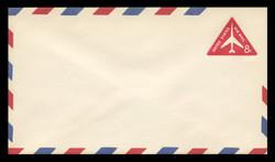 U.S. Scott # UC 37 F 1965 8c Jet Airliner, Red - Fluorescent Paper - Mint Envelope, UPSS Size 12
