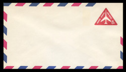 """U.S. Scott # UC 37a 1965 8c Jet Airliner, Red, """"Tagged"""" - Mint Envelope, UPSS Size 12"""