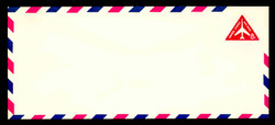 """U.S. Scott # UC 37a 1965 8c Jet Airliner, Red, """"Tagged"""" - Mint Envelope, UPSS Size 23"""