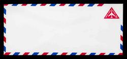 "U.S. Scott # UC 37g 1965 8c Jet Airliner, Red, Border ""g"" - Red & Blue Border Colors Reversed - Mint Envelope, UPSS Size 23"