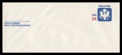 U.S. Scott # UO 090 2001 34c Official Mail - Mint Envelope, UPSS Size 23