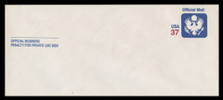 U.S. Scott # UO 091 2002 37c Official Mail - Mint Envelope, UPSS Size 23
