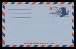U.S. Scott # UC 38 1965 11c President John F. Kennedy - Mint Air Letter Sheet