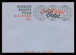 U.S. Scott # UC 42 1968 13c Human Rights Year - Mint Air Letter Sheet