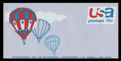 U.S. Scott # UC 46 1973 15c Hot Air Ballooning - Mint Air Letter Sheet