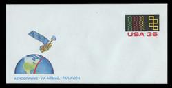 U.S. Scott # UC 58 1985 36c Landsat Satellite - Mint Air Letter Sheet
