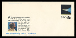 U.S. Scott # UC 60 1985 36c Mark Twain/Halley's Comet - Mint Air Letter Sheet