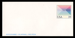 U.S. Scott # UC 61 1988 39c Foreign Letter Rate - Mint Air Letter Sheet