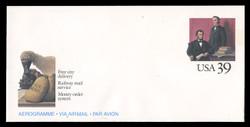 U.S. Scott # UC 62 1989 39c Abraham Lincoln & Montgomery Blair - Mint Air Letter Sheet