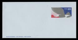 U.S. Scott # UC 63 1991 45c Foreign Letter Rate, blue paper - Mint Air Letter Sheet