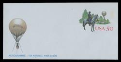 U.S. Scott # UC 64 1995 50c Thaddeus Lowe, Balloonist - Mint Air Letter Sheet