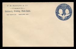 U.S. Scott # U 348A, 1893 1c Columbian, blue on white, Die 1(A) - Mint Envelope, UPSS Size 9