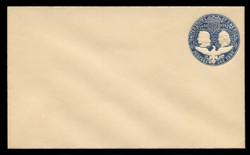 U.S. Scott # U 348B, 1893 1c Columbian, blue on white, Die 2(B) - Mint Envelope, UPSS Size 11
