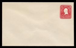U.S. Scott # U 385, 1903 2c Washington, carmine on white - Mint Envelope, UPSS Size  9