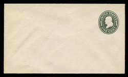 U.S. Scott # U 400, 1907-16 1c Franklin, green on white, Die 1 - Mint Envelope, UPSS Size  8