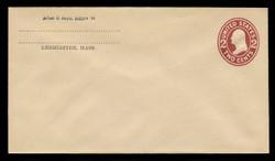 U.S. Scott # U 406, 1907-16 2c Washington, brown red on white, Die 1 - Mint Envelope, UPSS Size 10