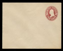 U.S. Scott # U 406, 1907-16 2c Washington, brown red on white, Die 1 - Mint Envelope, UPSS Size 14