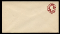 U.S. Scott # U 406b, 1907-16 2c Washington, brown red on white, Die 3 - Mint Envelope, UPSS Size 10