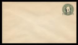 U.S. Scott # U 495, 19251½c on 1c (U420) Franklin, green on white, Die 1 - Mint Envelope, UPSS Size 13