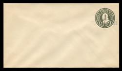 U.S. Scott # U 495b, 19251½c on 1c (U420b) Franklin, green on white, Die 3 - Mint Envelope, UPSS Size 10