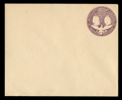 U.S. Scott # U 349C, 1893 2c Columbian, violet on white, Die 3(C) - Mint Envelope, UPSS Size 16