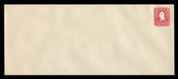 U.S. Scott # U 385, 1903 2c Washington, carmine on white - Mint Envelope, UPSS Size 25