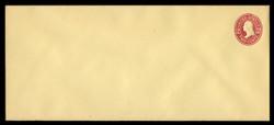 U.S. Scott # U 412cR, 1907-16 2c Washington, fairly dark red on amber, Die 4 - Mint Envelope, UPSS Size 23 (See Warranty)