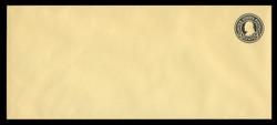 U.S. Scott # U 441, 1915-32 4c Franklin, black on amber, Die 1 - Mint Envelope, UPSS Size 23