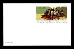 "U.S. Scott # UX  94FM, 1982 13c ""Swamp Fox"" Francis Marion - Patriot Series - Mint Postal Card, FLUORESCENT (Medium Bright) PAPER (See Warranty)"