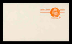 U.S. Scott # UX  66aFM/UPSS #S83bFM, 1973 6c Samuel Adams - Patriot Series - Mint Postal Card, COARSE, FLUORESCENT (Medium Bright) PAPER (See Warranty)